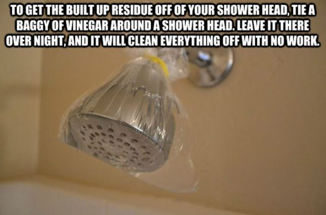 How to clean a shower with vinegar