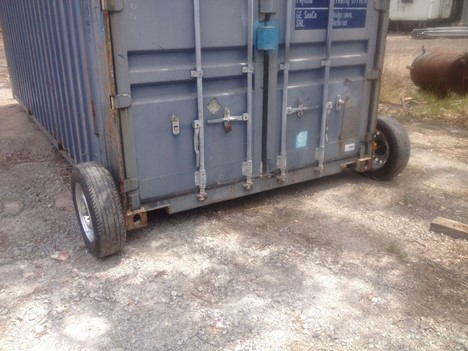 DIY Ideas to Move a 20ft Container Using Removable Wheels